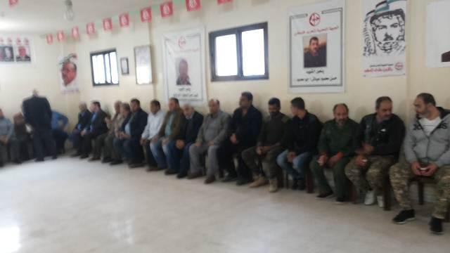 الجبهة الشعبية تقيم مجلس تبريك لشهداء غزة في مخيم البداوي