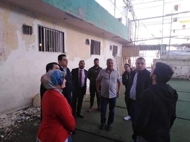 التحضير لمشروع تمكين المرأة في مخيم البداوي