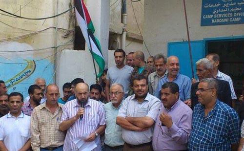أهالي مخيم البداوي يتضامنون مع المسجد الأقصى المبارك