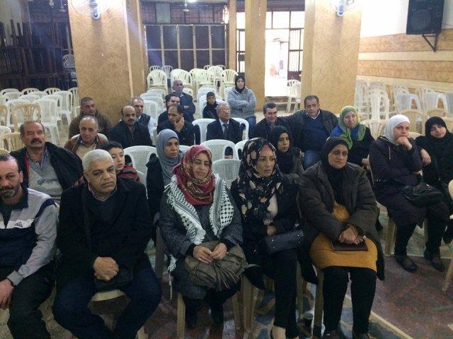 محاضرة صحية في مستشفى صفد بمخيم البداوي