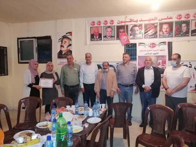 الجبهة الشعبية تقيم افطارا تكريميا في مخيم البداوي