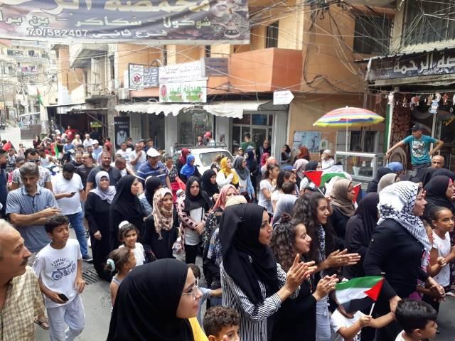 تظاهرات غاضبة في مخيم البداوي استنكارًا لقرار وزير العمل اللبناني