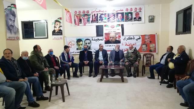 الشعبية في مخيم البداوي تتقبل التعازي بالقائد عبد الرحيم ملوح