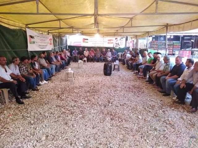 شعبان زار خيمة اعتصام الكرامة في البداوي: سنبقى مع الفلسطينيين في مطالبتهم بحقوقهم في لبنان