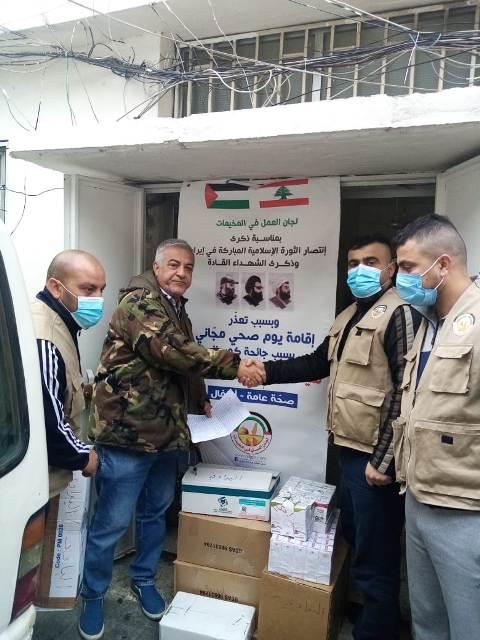 جمعية الشفاء الطيية في الشمال تتسلم أدوية من لجان العمل في المخيمات