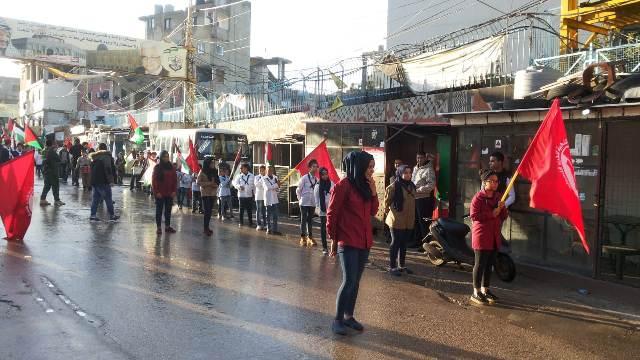 مخيم البداوي يحتفي بانطلاقة الجبهة الشعبية الواحدة والخمسين