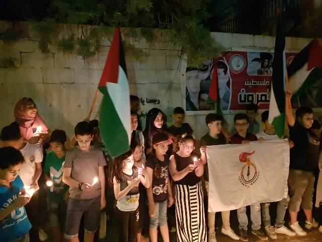 أطفال فلسطين يضيئون الشموع في ذكرى النكبةالـ71