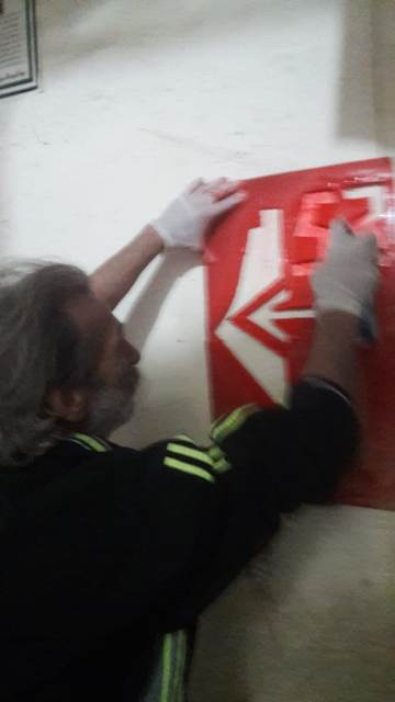 شعار ذكرى انطلاقة الجبهة الشعبية الثانية والخمسين يزين جدران مخيم برج البراجنة