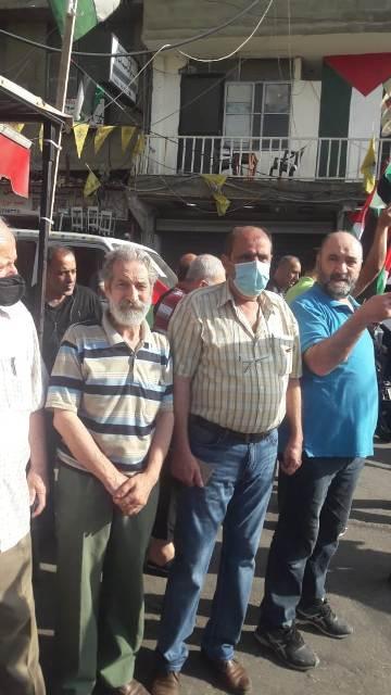 وقفة تضامنية مع انتفاضة القدس الباسلة في مخيم برج البراجنة