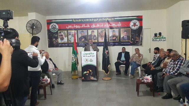 الشعبية في بيروت تقدم التبريكات لحركة الجهاد الإسلامي بشهداء النفق