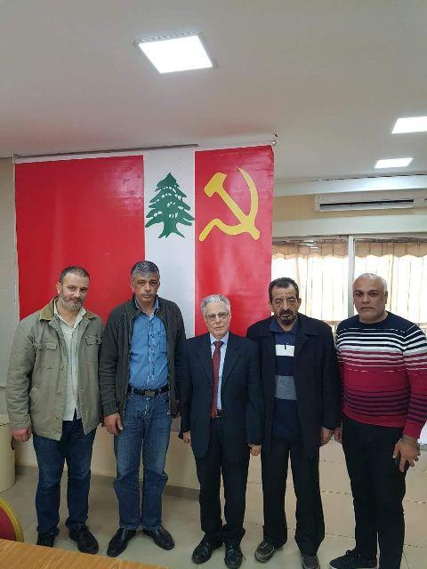 لقاء بين قيادتي الحزب الشيوعي اللبناني والجبهة الشعبية لتحرير فلسطين