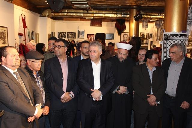 افتتاح معرض التراث الوطني الفلسطيني الحادي عشر في قاعة مسرح المدينة ببيروت