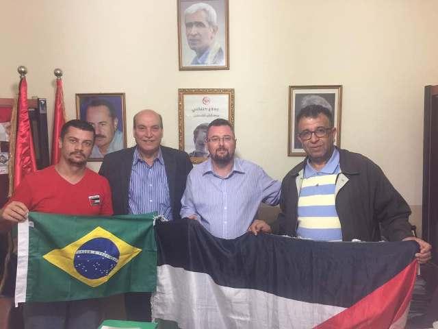 لقاء قيادي بين قيادتي الجبهة الشعبية لتحرير فلسطين وحركة بلا أرض البرازيلية