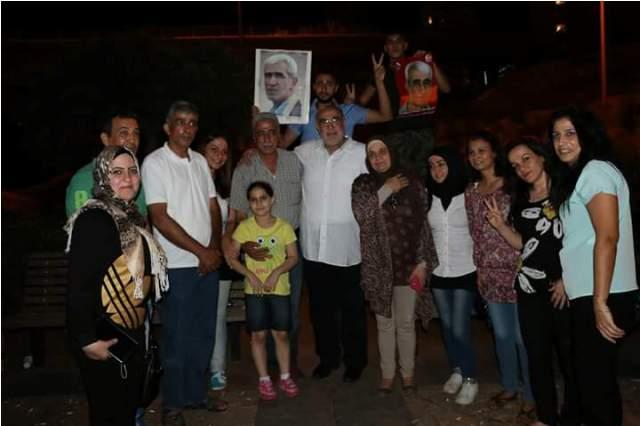 اللجنة المنظمة لخيمة فلسطين تقيم احتفالاً بانتصار الشيخ خضر عدنان