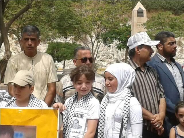 اعتصام جماهيري أمام الأسكوا تنديداً بالمجازر الصهيونية