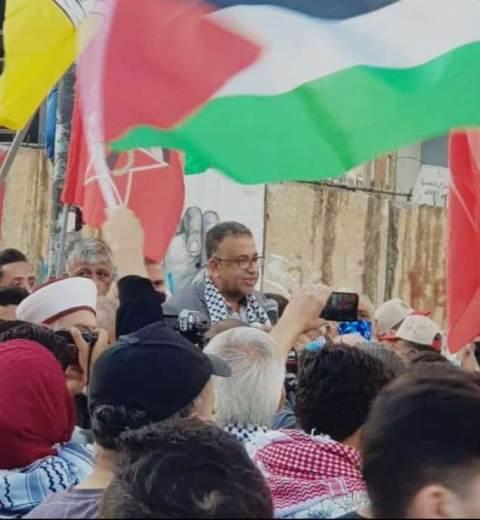 عبد العال خلال المسيرة الداعمة للقدس وغزة: القدس هي محور المشروع الوطني الفلسطيني