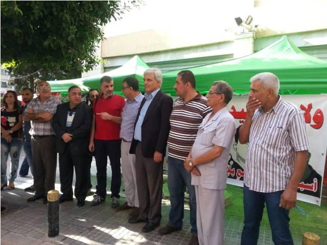 بالصور: انطلاق فعاليات التضامن مع الاسرى المضربين عن الطعام وكافة الاسرى جورج عبدالله :