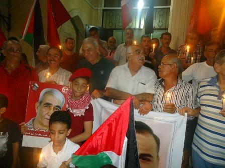 وقفة تضامنية مع الأسير بلال كايد والأسرى كافة في مخيم برج البراجنة ببيروت