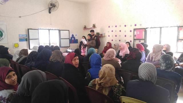 احتفالًا تكريميًّا للمرأة في عيدها في مخيم الجليل
