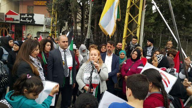 وقفة تضامنية نصرة لأهل فلسطين في بلدة الجديدة بقعاتا