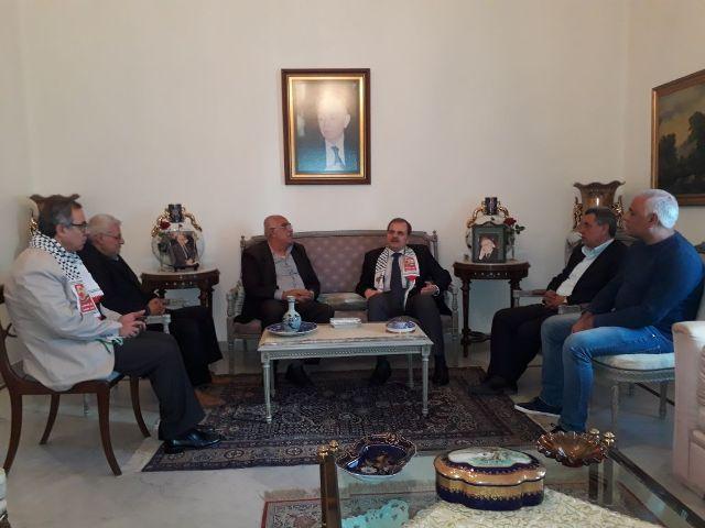 الشعبية في لبنان تزور الدكتور عبد الرحمن البزري