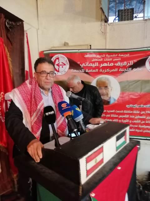 مروان عبد العال في مهرجان الجبهة ببيروت: من كرمنا صاحب تلك الرصاصات التي اخترقت جسد العدو