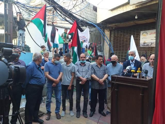 وقفة تضامنية مع انتفاضة القدس في مخيم برج البراجنة