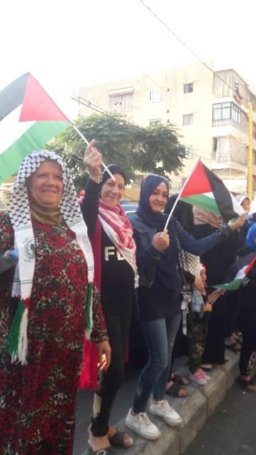 خلية القدس تنظم اعتصامًا في مخيم برج البراجنة احتجاجًا على قرار الوزير كميل أبو سليمان