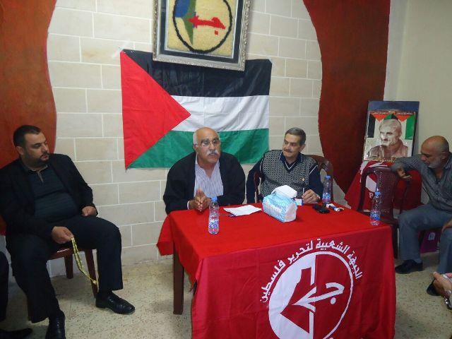 أبو جابر: يجب التفكير بجدية بواقع الشعب الفلسطيني وقضيته، وكيفية إنقاذ الحالة الفلسطينية من الضياع
