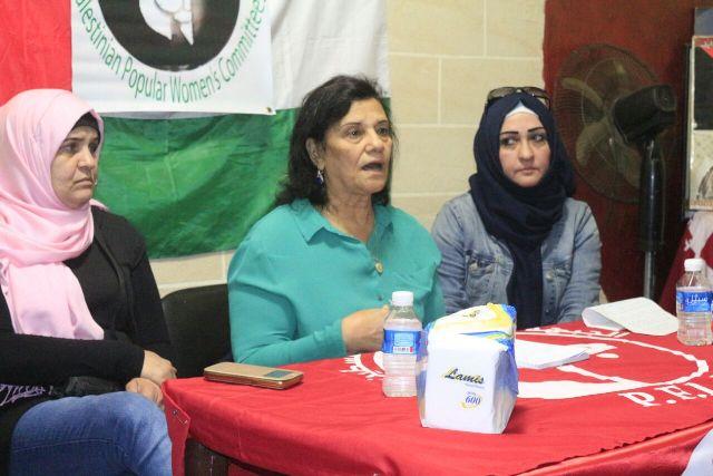 لجان المرأة الشعبية الفلسطينية في مخيم برج البراجنة تحتفي بيوم المرأة العالمي