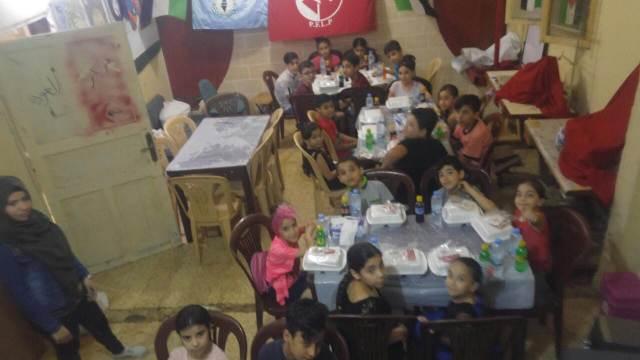 منظمة الشبيبة الفلسطينية في مخيم البرج تقيم إفطارًا على أرواح شهداء مسيرة العودة
