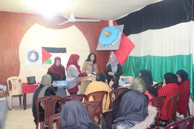 لجان المرأة الشعبية الفلسطينية في مخيم برج البراجنة تقيم ندوة حوارية
