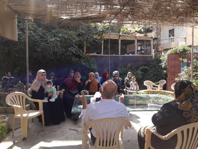 لجان المرأة الفلسطينية في البرج الشمالي تنظم محاضرة صحية