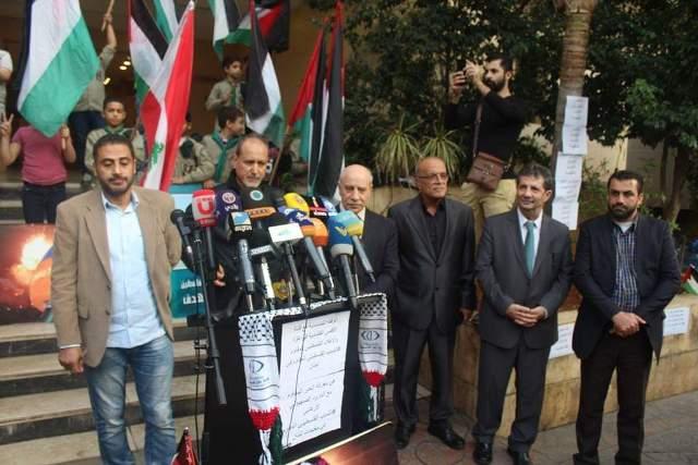 وقفة تضامنية مع قناة الأقصى والمقاومة وشعب غزة في بيروت