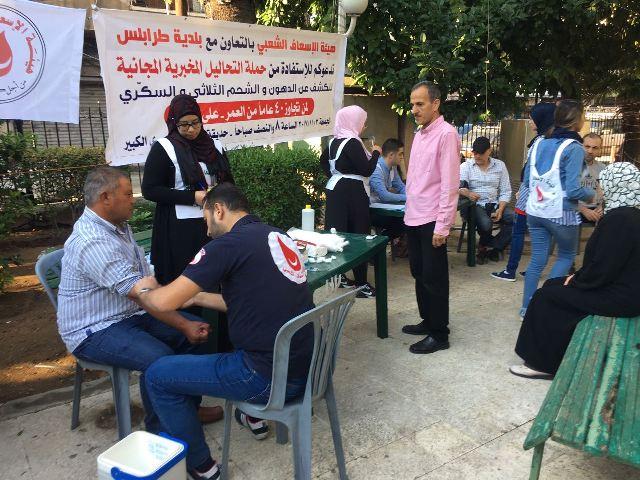 الإسعاف الشعبي وبلدية طرابلس نفذتا الحملة المجانية الثالثة  للتحاليل المخبرية