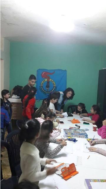 نشاط ترفيهي للأطفال في مخيم مخيم شاتيلا