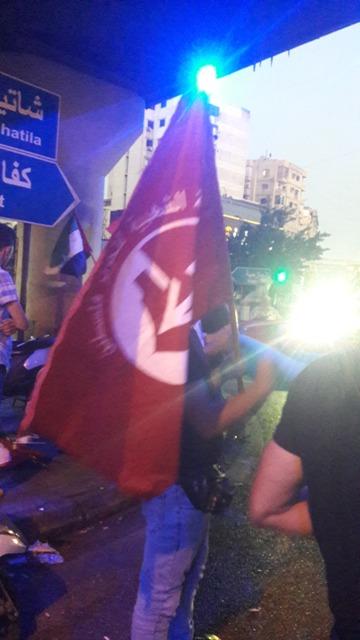 الجبهة الشعبية لتحرير فلسطين تشارك الحزب الشيوعي اللبناني بوقفة التضامن في بيروت