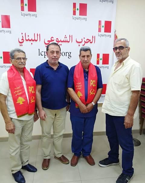 لجنة الأسرى والمحررين في الشعبية تلتقي بالحزب الشيوعي اللبناني