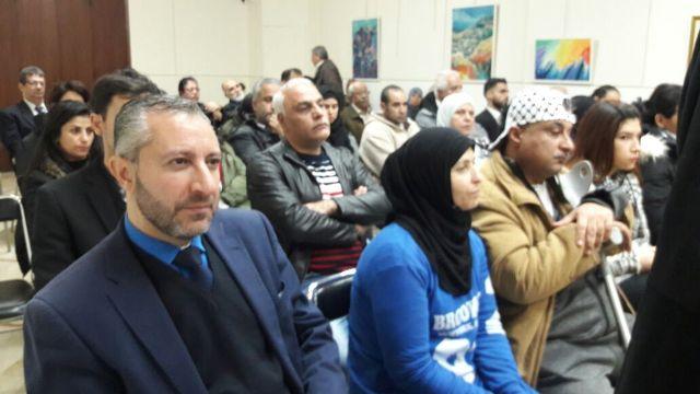 لقاء تضامني مع الشعب الفلسطيني في دار الندوة ببيروت