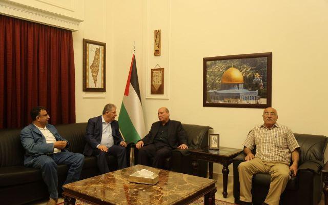 دبور يلتقي وفداً من الجبهة الشعبية لتحرير فلسطين