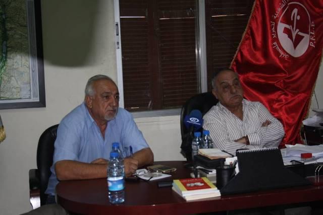 لقاء مفتوح مع قيادة الجبهة الشعبية ونائب الأمين العام بدمشق