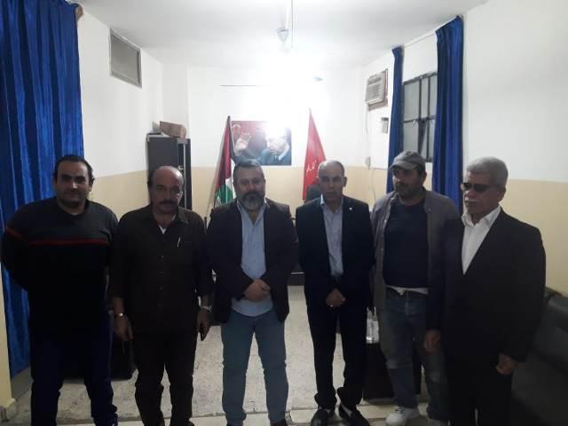 اللجان العمالية الشعبية الفلسطينية في منطقة صيدا تزور الكتلة العمالية للجبهة الديمقراطية لتحرير فلسطين