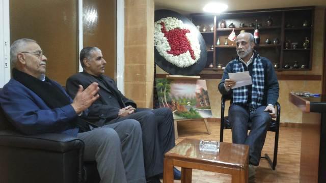 الجبهة الشعبية تجول على الأحزاب والفاعليات اللبنانية في الشمال