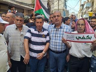 مسيرة حاشدة في مخيم عين الحلوة رفضًا لقرار الوزير أبو سليمان