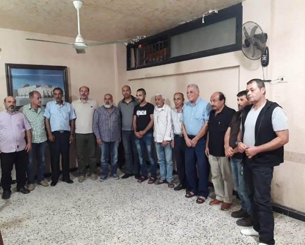 الشعبية في مخيم عين الحلوة زارت لجنة القاطع الخامس/ حي صفورية