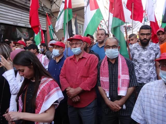 تظاهرة حاشدة في مخيم عين الحلوة رفضًا لمجازر العدو الصهيوني بحق أهلنا في القطاع