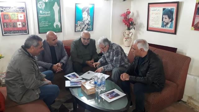 الأمين العام لرابطة الشغيلة الوزير الأسبق زاهر الخطيب يستقبل وفدًا من الجبهة الشعبية