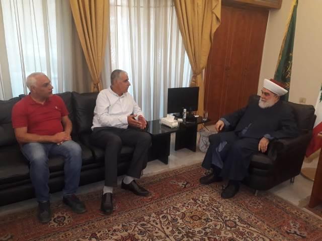 الجبهة الشعبية لتحرير فلسطين تلتقي مفتي طرابلس والشمال