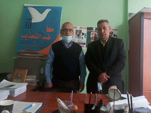 لجنة الأسرى والمحررين  في الجبهة الشعبية في لبنان تزور الرئيس الفخري لمركز الخيام لتأهيل ضحايا التعذيب