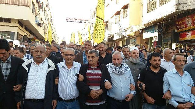 حركة فتح تقيم مسيرة في مخيم نهر البارد  وفاء للرئيس الشهيد
